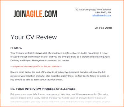 JoinAgilecom Professional CV Review Service